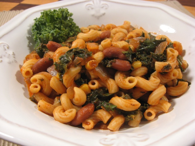 chili mac kale